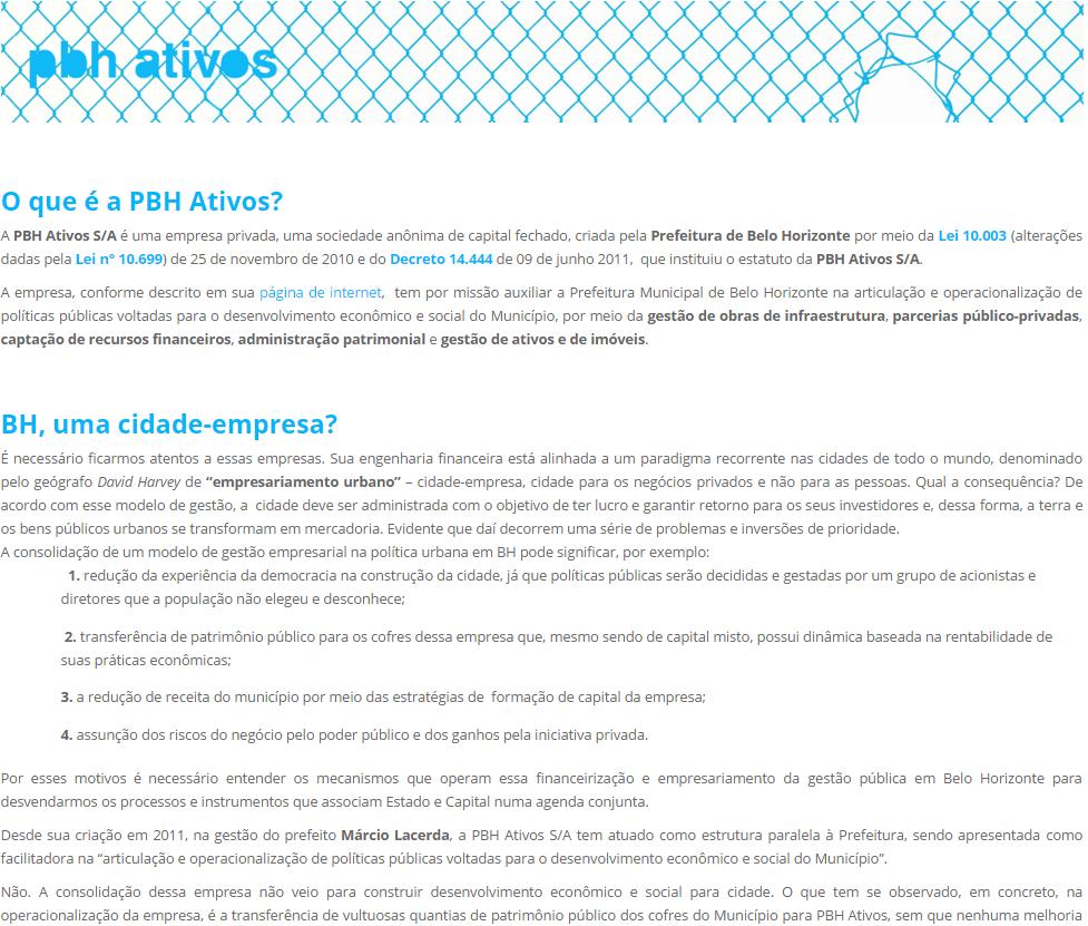PBH Ativos S/A